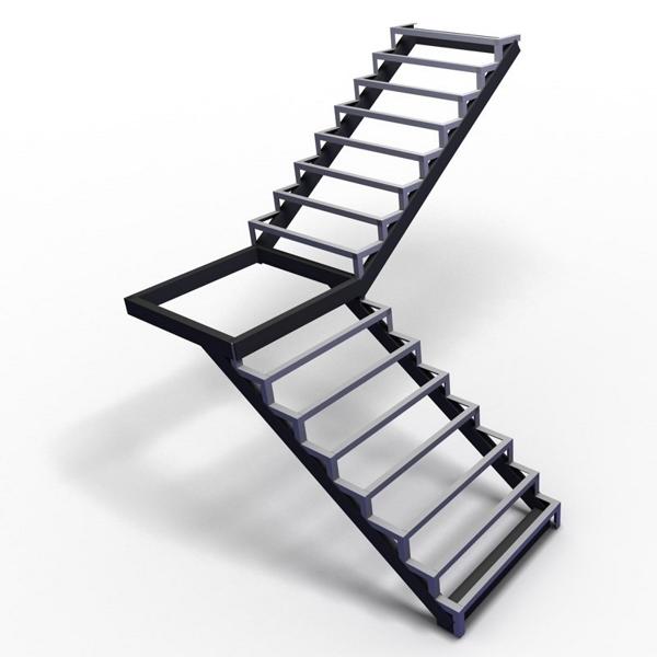 Металлический каркас лестницы
