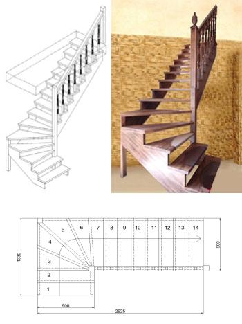 Типовая лестница ЦЛ-10