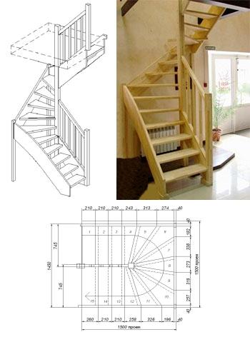 Типовая лестница ЦЛ-12