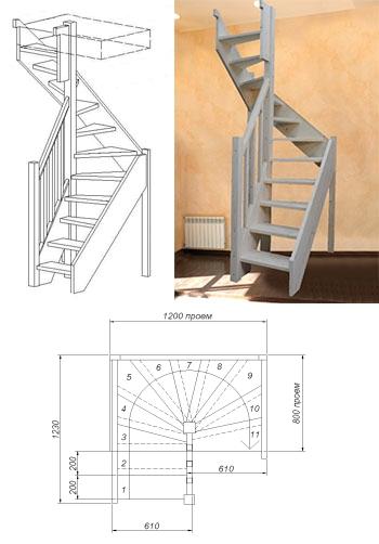 Типовая лестница ЦЛ-13