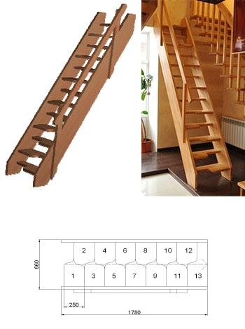 Типовая лестница ЦЛ-7