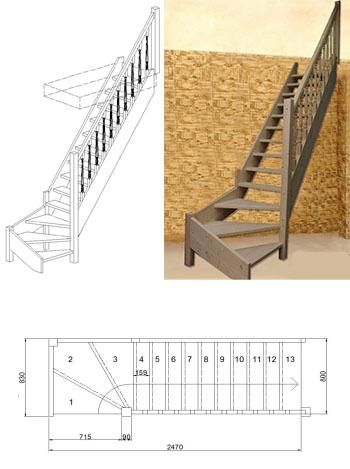 Типовая лестница ЦЛ-8