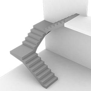 П - образные лестницы с двумя площадками