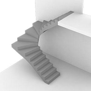 с забежными ступенями